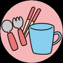 お箸や食器の共有
